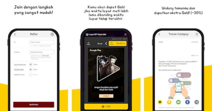 Aplikasi Android Penghasil Uang - cash pop img