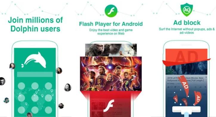 Aplikasi Browser Terbaik 2021 - dolphin img