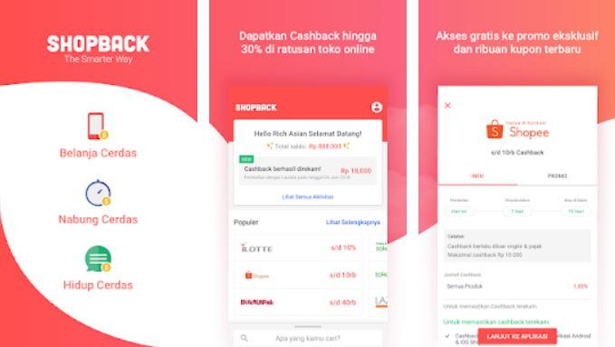 Aplikasi Android Penghasil Uang - shopback img