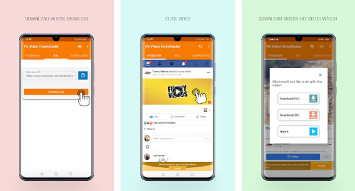 Cara Download Video di Facebook Android - fastvid img
