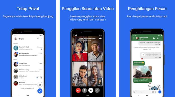 Aplikasi Chatting Terbaik di Android - signal img