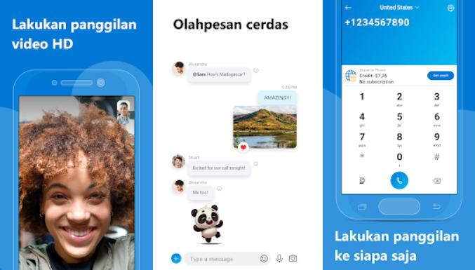 Aplikasi Chatting Terbaik di Android - skype img