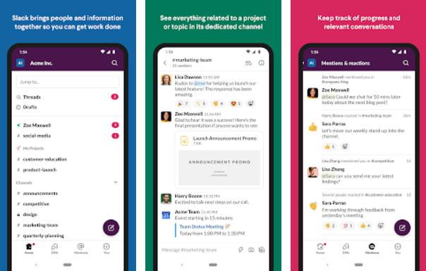Aplikasi Chatting Terbaik di Android - slack img