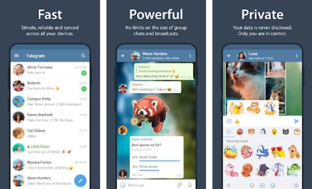 Aplikasi Chatting Terbaik di Android - telegram img