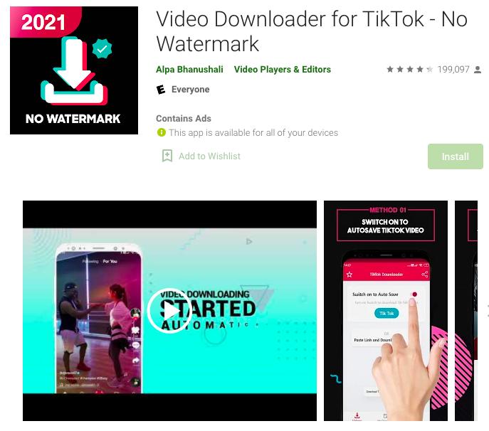 Aplikasi Download Video TikTok 4