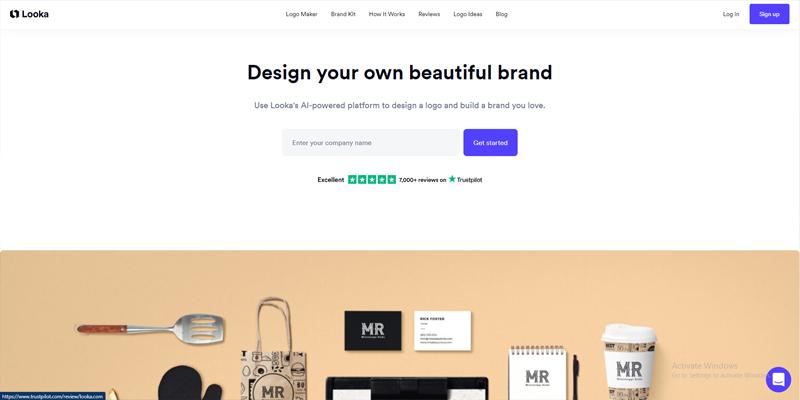 6 Tools Pembuat Logo Gratis untuk Bisnis - Looka Logo Maker