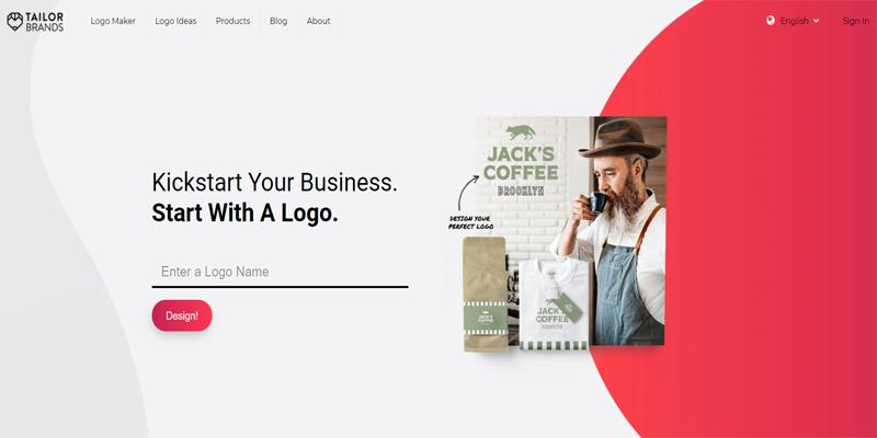 6 Tools Pembuat Logo Gratis untuk Bisnis - Tailor Brands Logo Maker
