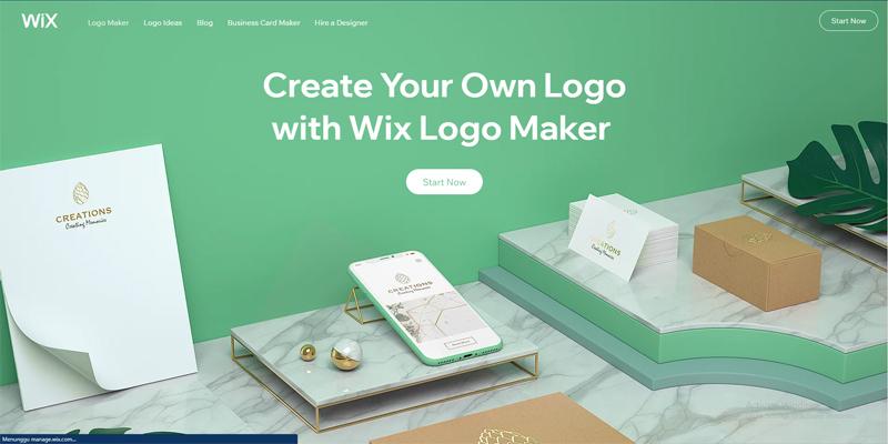 6 Tools Pembuat Logo Gratis untuk Bisnis - Wix Logo Maker